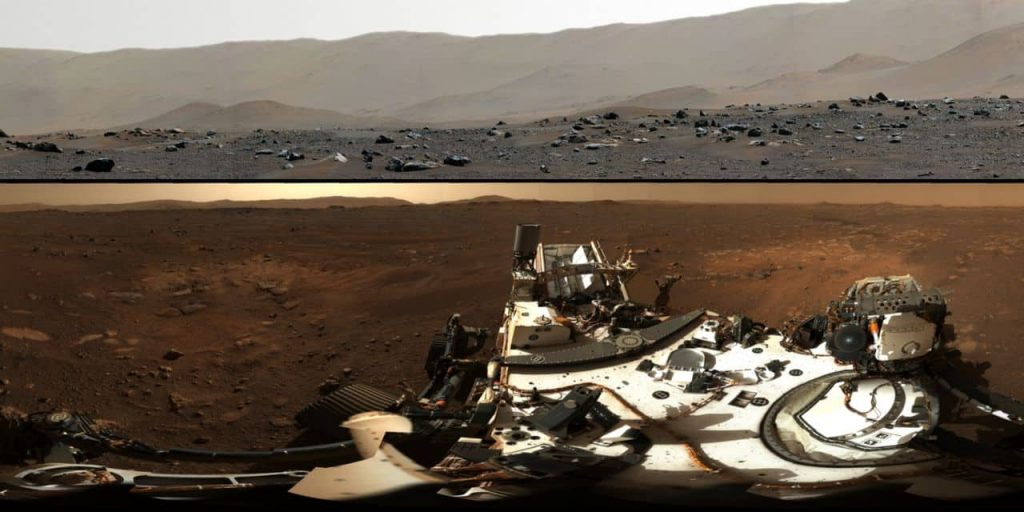 The first panoramic photos of Mars unveiled by NASA